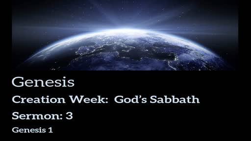 Genesis Lesson 3 - God's Sabbath
