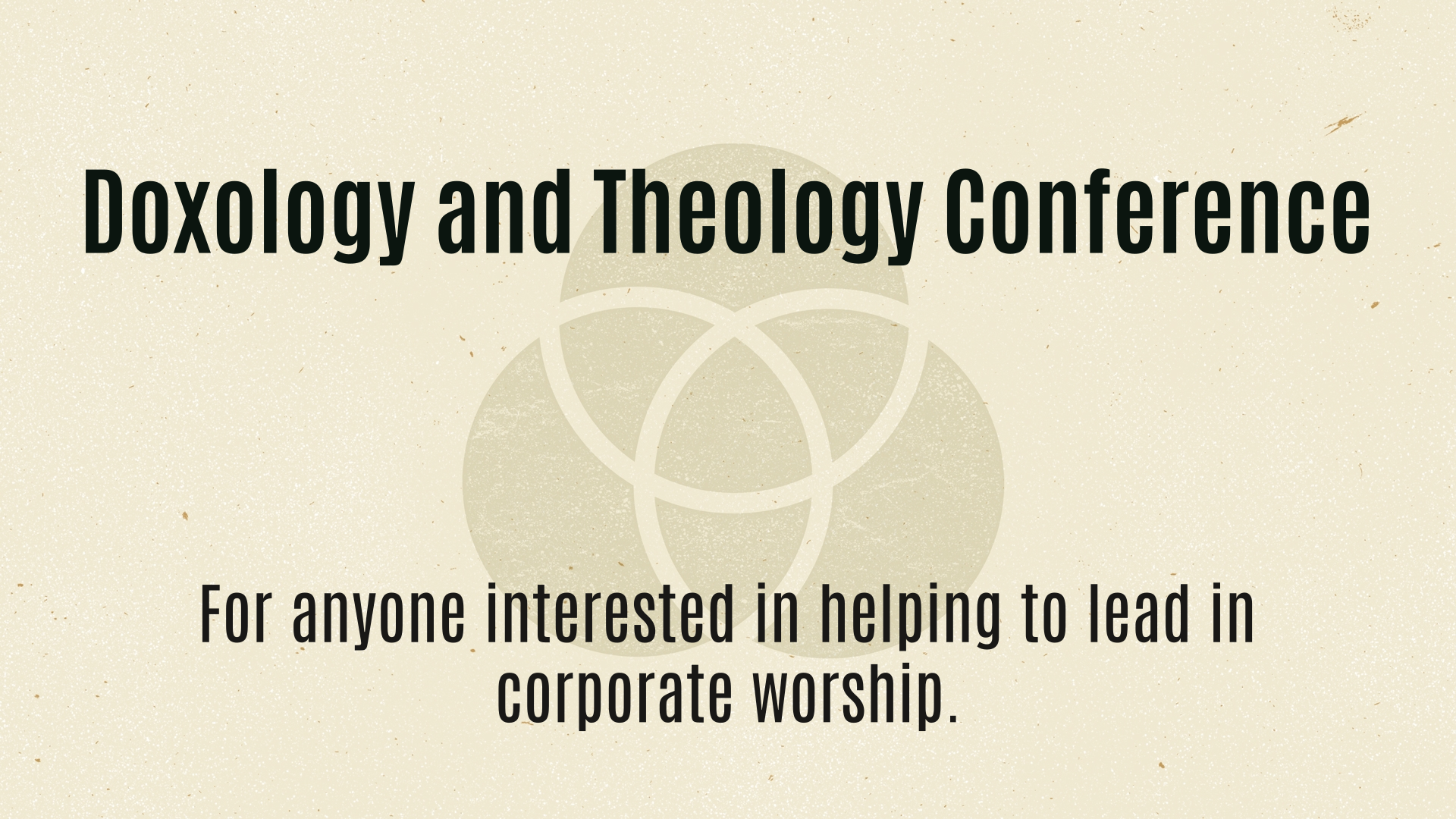 Doxology and Theology Conference