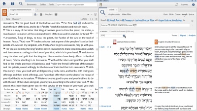 Finding Hebrew Expressions with a Morph Search