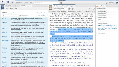 Finding Cross-References on Deuteronomy 6:4–5 with the Explorer
