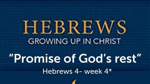 Hebrews study chapter 4 bible study