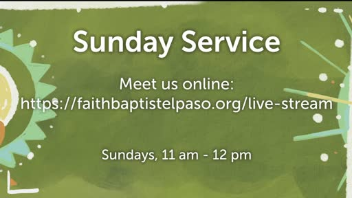 January 27, 2021 Wednesday Service