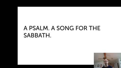 Thurs.  Jan 28, '21 Morning PPT Psalm 92