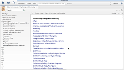Using the Baker Encyclopedia of Psychology and Counseling