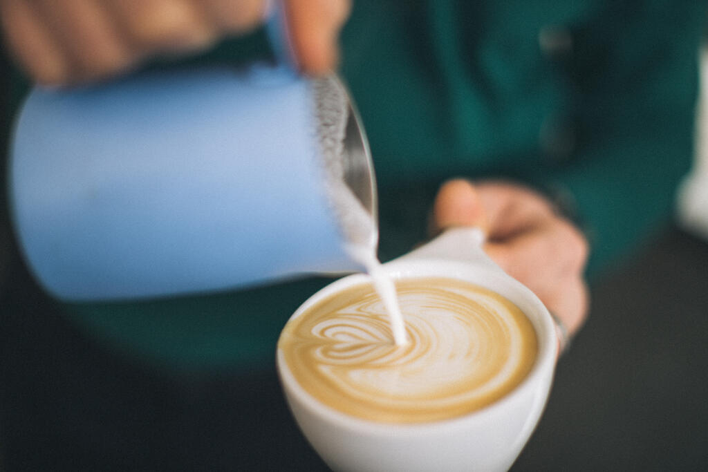 Barista Pouring Latte Art large preview