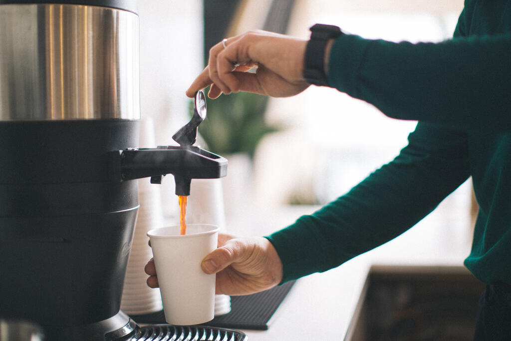 Barista Pouring Drip Coffee large preview