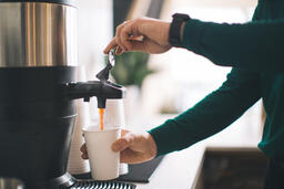 Barista Pouring Drip Coffee  image 1