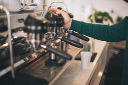 Barista Pulling Shots of Espresso  image 3