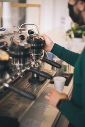 Barista Pulling Shots of Espresso  image 1