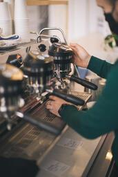 Barista Pulling Shots of Espresso  image 2