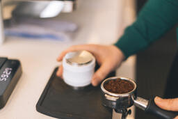 Barista Preparing to Pull Shots of Espresso with a Portafilter  image 4