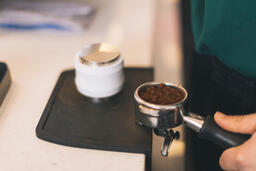 Barista Preparing to Pull Shots of Espresso with a Portafilter  image 2