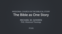 The Bible as One Story