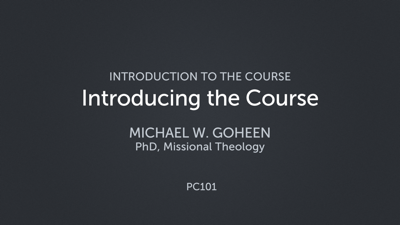 Introducing the Course