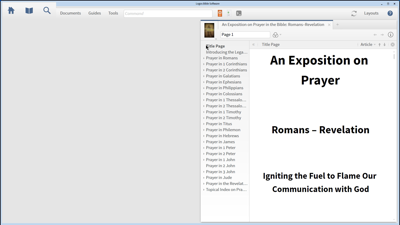Using the Topical Index of An Exposition on Prayer in the Bible