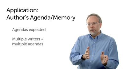 Applying the Data: Author's Agendas/Memory