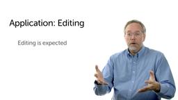 Applying the Data: Editing