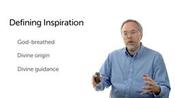 Biblical Data for Inspiration