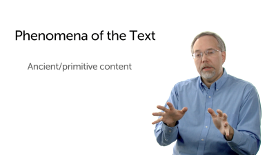 Phenomena of the Text: Ancient Content