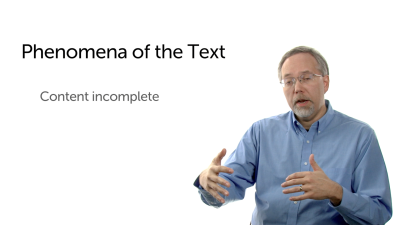 Phenomena of the Text: Incomplete Content