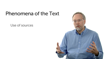 Phenomena of the Text: Sources