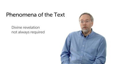 Phenomena of the Text: Historical Record