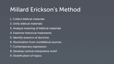 Millard Erickson's Theological Method