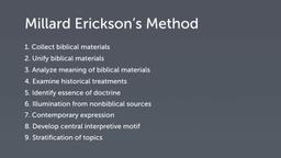 Millard Erickson's Theological Method