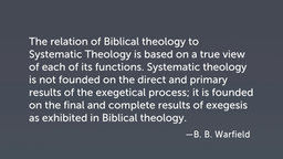 Distinguishing Systematic Theology