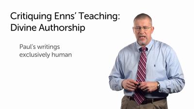 Enns' Misunderstanding of Divine Authorship