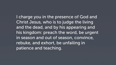 Paul's Exhortation in 2 Timothy 4:1–4