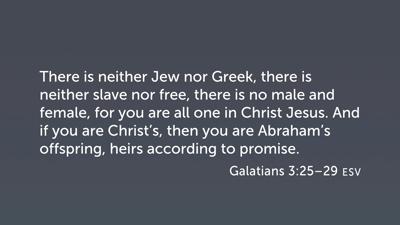 Galatians 3:25–29, Heirs of Abraham