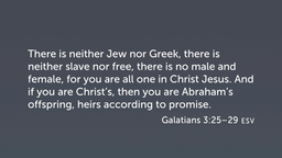 Galatians 3:25–29, Heirs of Abraham