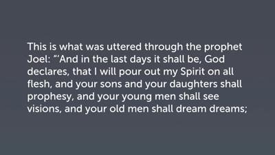 Disagreement in Hermeneutics: The Coming of the Spirit on Pentecost
