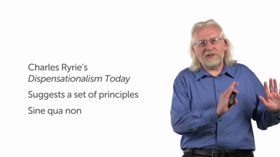 Ryrie's Definition Based on Principles