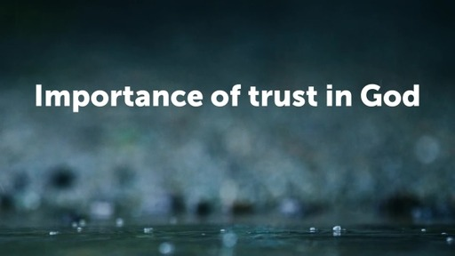 Importance of trust in God