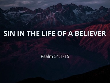 Sin in the Life of a Believer