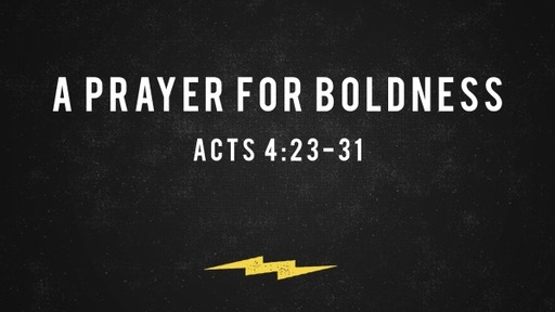 A Prayer For Boldness Acts 4:23-31