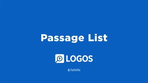 Passage List