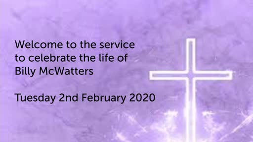 Funeral Billy McWatters- Tuesday 2nd February 2021