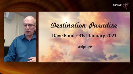 RCF 310121 - Celebration Service - Dave Food - Destination Paradise