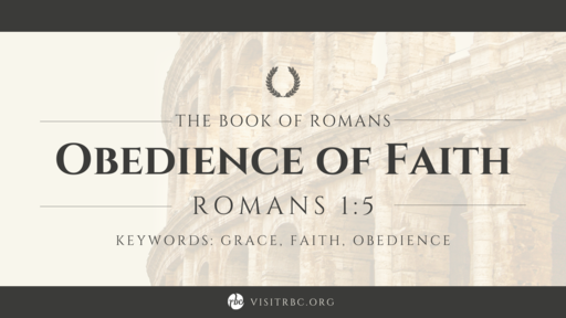 Obedience of Faith