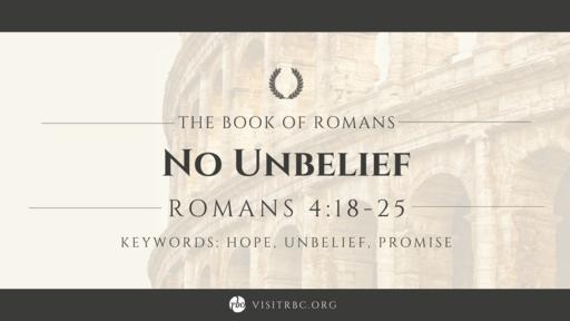 No Unbelief