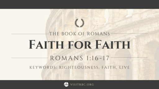 Faith for Faith