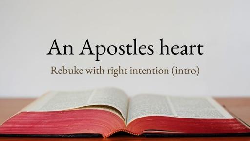 Rebuke for restoration