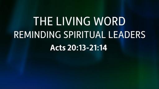 Reminding Spiritual Leaders