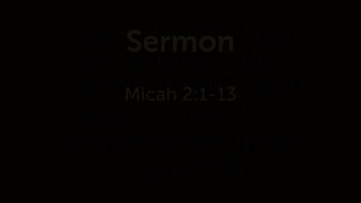 Micah 2:1-13