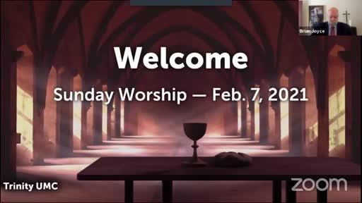 Sunday Worship—Feb. 7, 2021