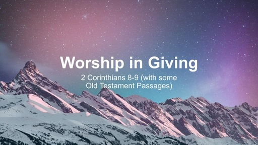 Worship in Giving