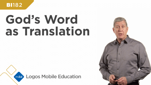 BI182 God's Word as Translation